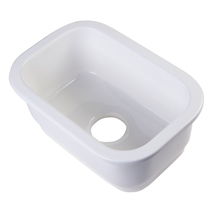 ALFI brand AB1218 Small Rectangle Fireclay Undermount or Drop In Prep Sink