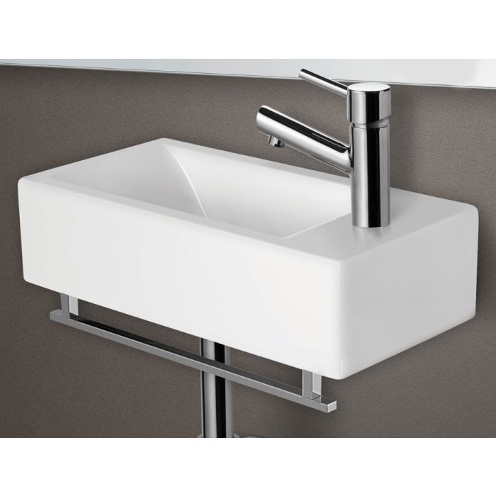 Alfi Brand Ab108 Small Modern Rectangular Wall Mounted Bathroom Sink
