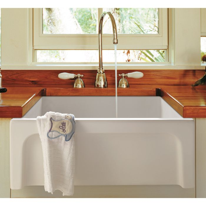 Alfi Brand Ab2418arch 24 Arched A Thick Wall Fireclay Farm Sink