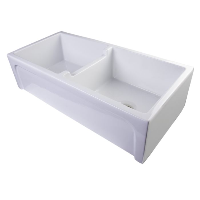 Alfi Brand Ab3918arch 39 A Thick Wall Fireclay Double Bowl Farm Sink