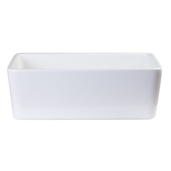 ALFI brand AB503 23-Inch  Fireclay Single Bowl Farmhouse Kitchen Sink White
